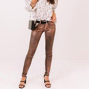🆕 Mabel Copper Metallic Foil Coated Jeans